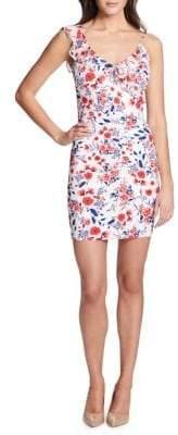 GUESS Ruffled Floral Mini Dress