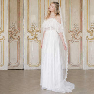 Britten Weddings Silk Style Wedding Veil With French Eyelash Lace