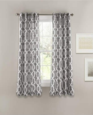 "Lush Decor Edward Trellis 63"" x 52"" Room Darkening Window Curtain Set"