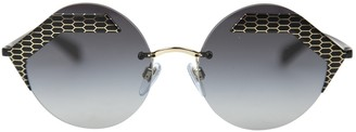 Bulgari Black Metal Sunglasses