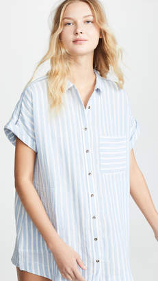 Plush Striped Linen Dress