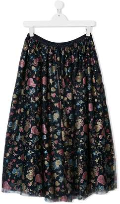 Christian Dior TEEN printed flared skirt