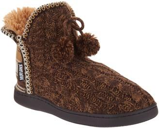 b141cc553fdc ... at QVC · Muk Luks Amira Slipper Boots with Faux Fur Lining