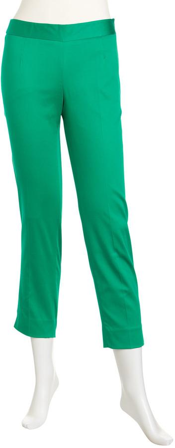 Laundry by Shelli Segal Side Zip Cropped Pants, Aloe Vera
