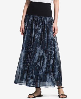 DKNY Printed Banded Maxi Skirt