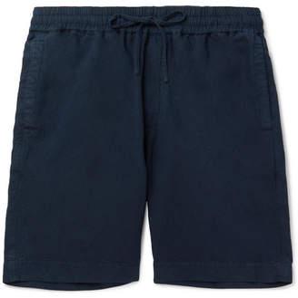 YMC Cotton and Linen-Blend Drawstring Shorts - Men - Navy