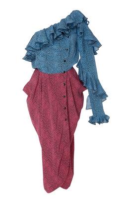 Philosophy di Lorenzo Serafini Cascading Ruffle Asymmetric Dress
