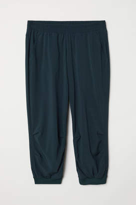 H&M 3/4-length Sports Pants - Turquoise