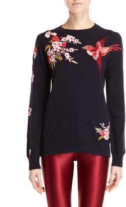 Ted Baker Embroidered Crew Neck Sweater