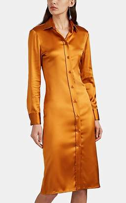Bottega Veneta Women's Silk Satin Fitted Shirtdress - Amber