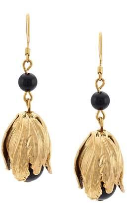 Oscar de la Renta delicate flower drops earrings