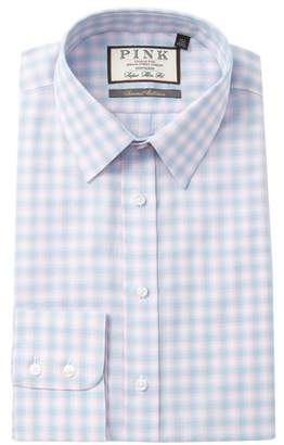 Thomas Pink Gerry Check Super Slim Fit Dress Shirt