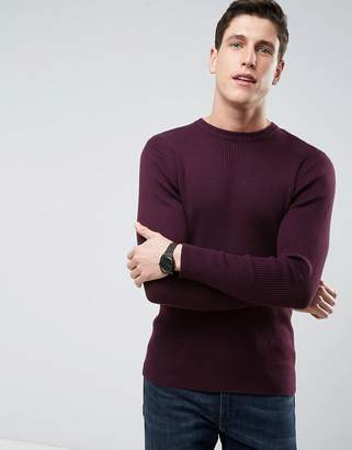 Brave Soul Ribbed Muscle Fit Jumper