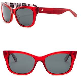Kate Spade Alora 53mm Cat Eye Sunglasses