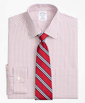 Brooks Brothers Regent Fitted Dress Shirt, Non-Iron Tonal Check Windowpane