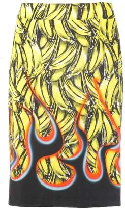 Prada Banana Flame Skirt