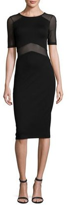 French Connection Arrow Mesh-Inset Sheath Dress, Black $178 thestylecure.com