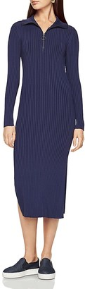 BCBGMAXAZRIA Rib Zip Neck Dress $268 thestylecure.com