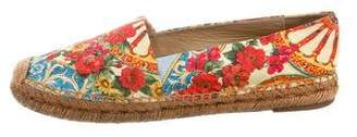 Dolce & Gabbana Floral Print Round-Toe Espadrilles