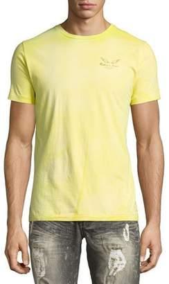 Robin's Jeans Tie-Dye Logo-Print T-Shirt, Lime