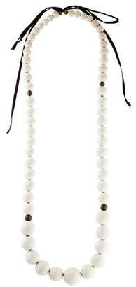 Isabel Marant Large Wood Bead Necklace