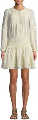 Sea Azzedine Long-Sleeve Peasant Tunic Dress