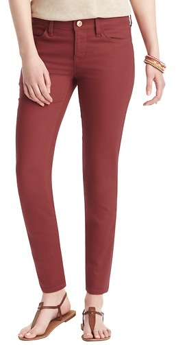 """LOFT Modern Skinny Ankle Jeans in Terra Cotta Red with 29"""" Inseam"""