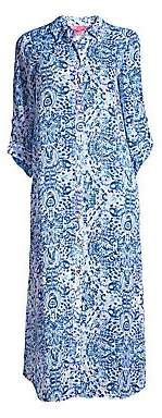 Lilly Pulitzer Women's Natalie Print Crinkle Chiffon Maxi Coverup
