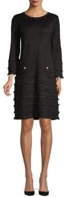 Karl Lagerfeld Paris Classic Fringe Shift Dress