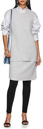 Derek Lam Women's Rib-Knit Cashmere Tunic Sweater - Heather Grey