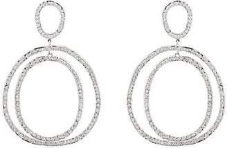 Ileana Makri Women's Again Double-Hoop Earrings - White