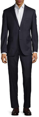 Saks Fifth Avenue Trim-Fit Herringbone Wool Suit