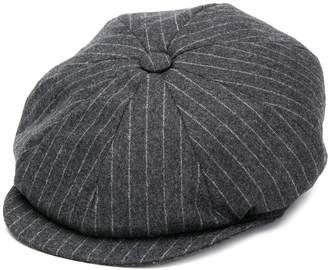 Brunello Cucinelli pin-stripe flat cap