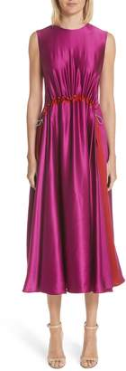 Roksanda Keeva Silk Satin Midi Dress