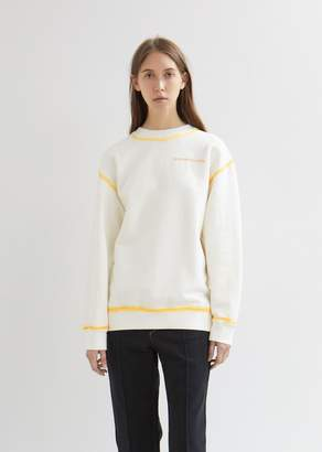 Eckhaus Latta Hand Dyed Cotton Fleece Sweatshirt