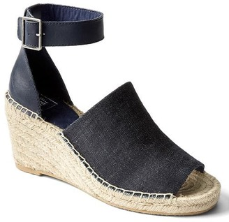Denim espadrille wedges $64.95 thestylecure.com