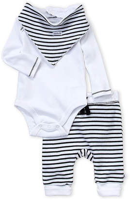 Absorba Newborn Boys) 3-Piece Long Sleeve Bodysuit & Pants Set