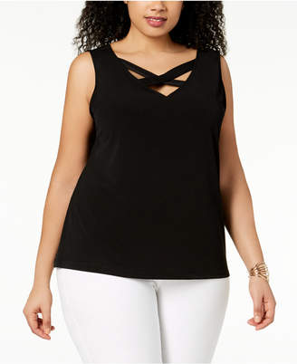 Nine West Plus Size V-Neck Top