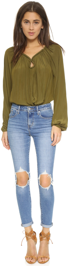 Levi's 721 High Rise Distressed Skinny Jeans 3