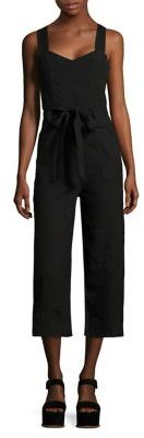 7 For All Mankind Belted Cropped Jumpsuit $279 thestylecure.com