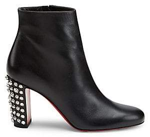Christian Louboutin Women's Suzi Folk Studded Leather Ankle Boots