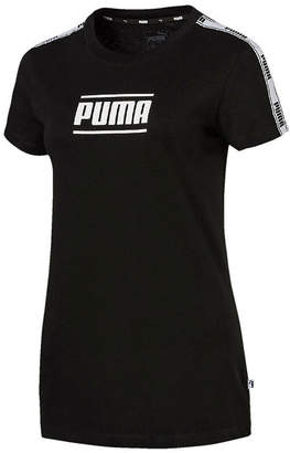 Puma Womens Crew Neck Short Sleeve Graphic T-Shirt