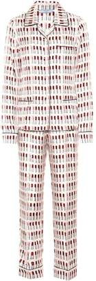 Prada Printed silk pajama set