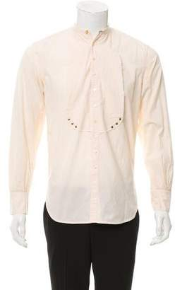 Paul Smith Mandarin Collar Long-Sleeve Shirt