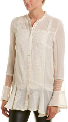French Connection Hillary Sheer Blouse