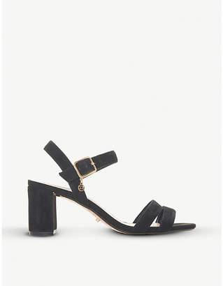 Dune Meggan suede block-heel sandals