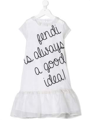 Fendi embellished short-sleeve dress