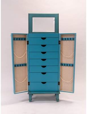Beachcrest Home Myrtle Jewelry Armoire with Mirror