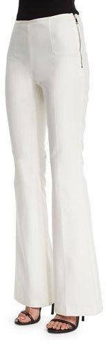 MonclerMoncler Side-Zip Flare-Leg Pants, White