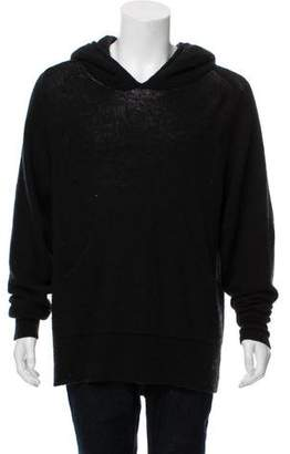 Haider Ackermann Wool & Mohair Blend Pull-Over Hoodie
